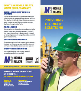 Mobile Relays - Providing the Right Solutions brochure